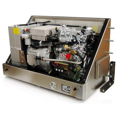 PVK-U-15000NE (15 kVA) in RVS geluidskast voor montage aan een voertuig